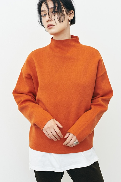 UP NECK KNIT TOPS