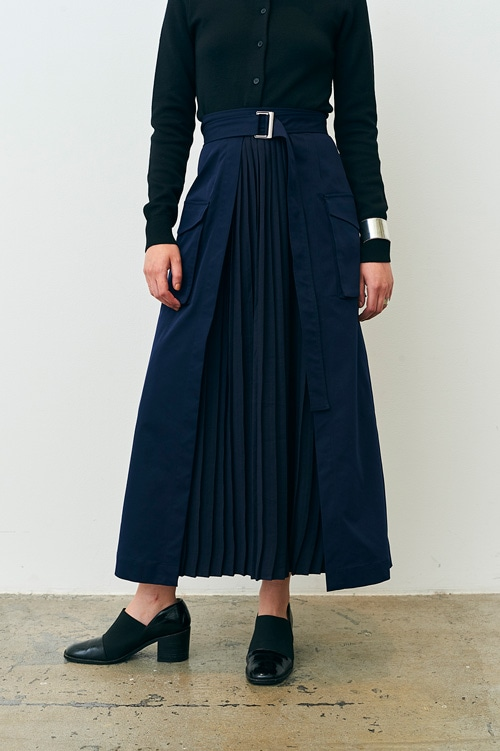 MILITARY PLEATS DOCKING SKIRT