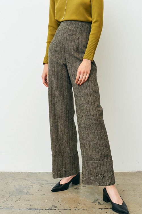 ROLL-UP WIDE PANTS