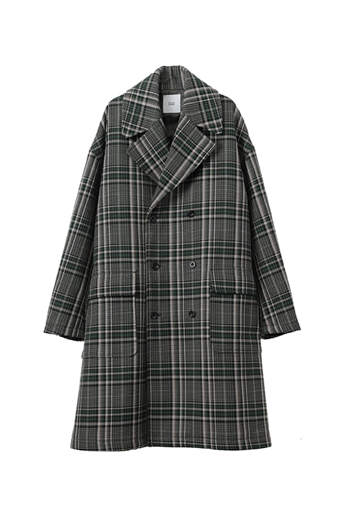 OVER SIZE CHECK COAT