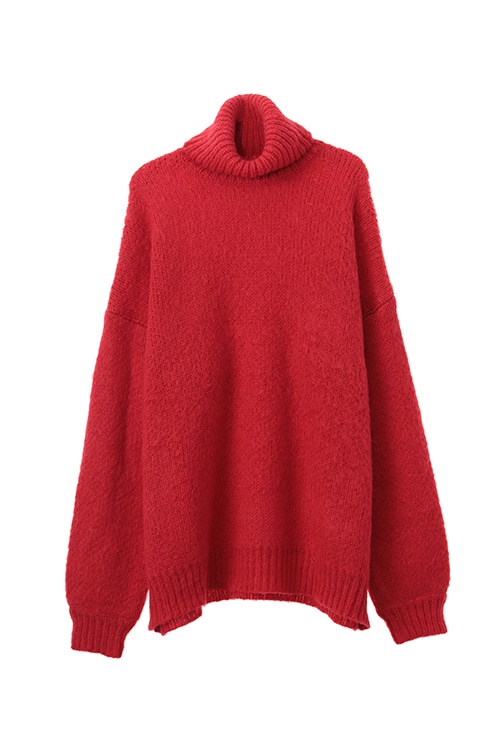 TURTLE NECK MOHAIR KNIT TOPS