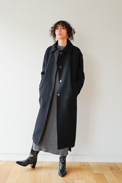 MIX CHECK SOUTIEN COLLAR COAT