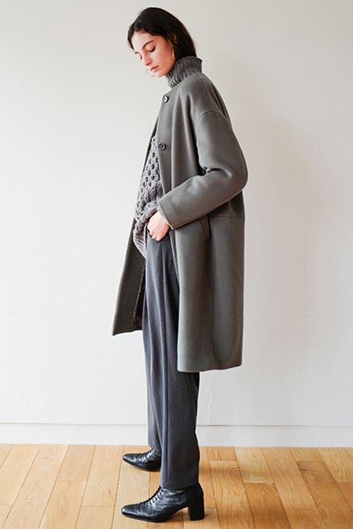 NO COLLAR COCOON COAT