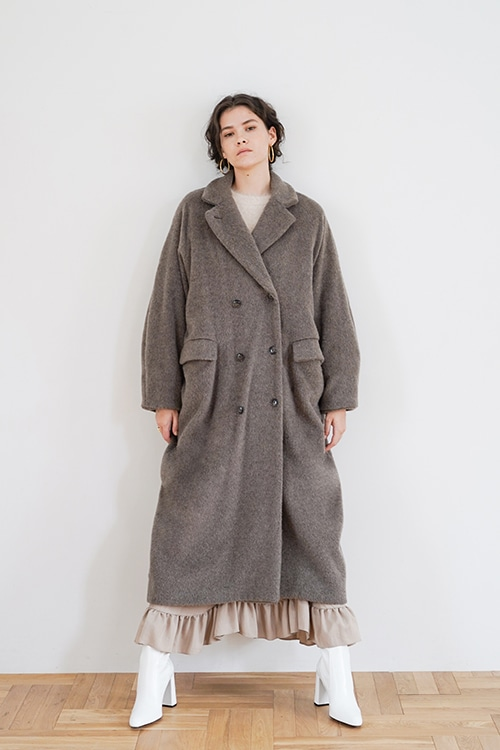 DOUBLE WOOL LONG COAT