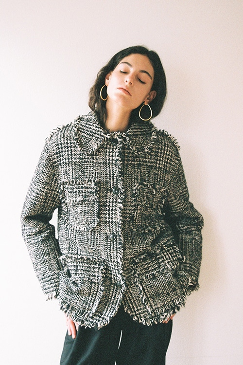 MIX TWEED BLOUSON