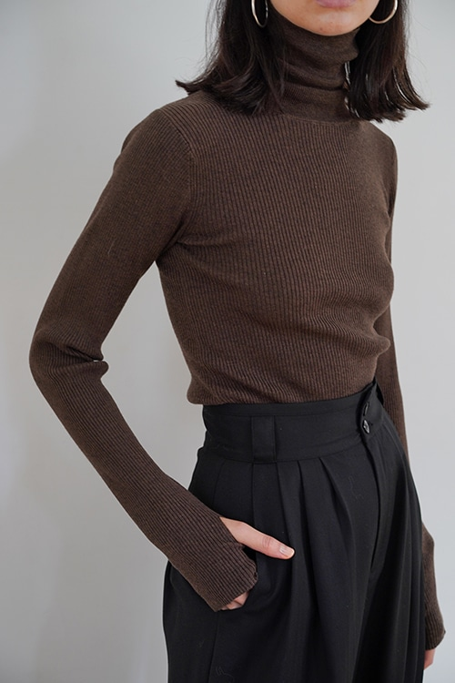 TURTLE RIB KNIT TOPS