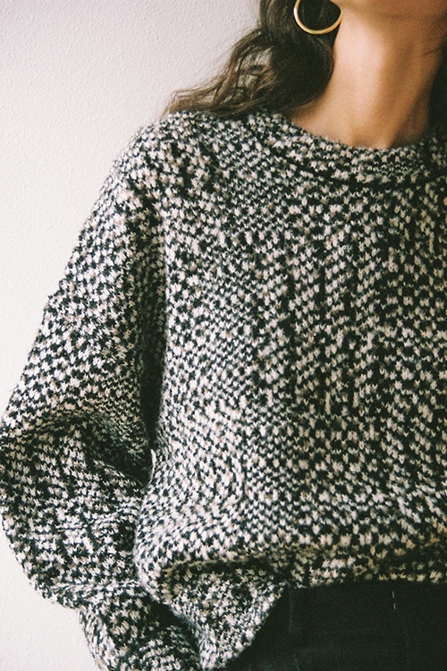 MIX TWEED KNIT TOPS