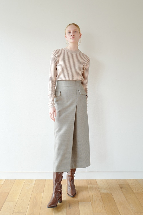 GUNCLUB CHECK HIGH-WAIST SKIRT
