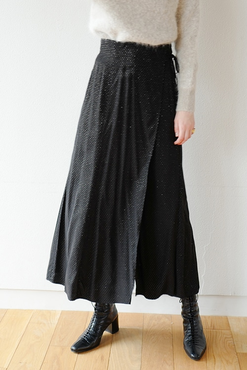 LAME DOT WRAP SKIRT