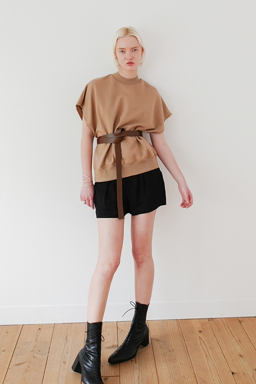 COCOON LINEN SHORT PANTS
