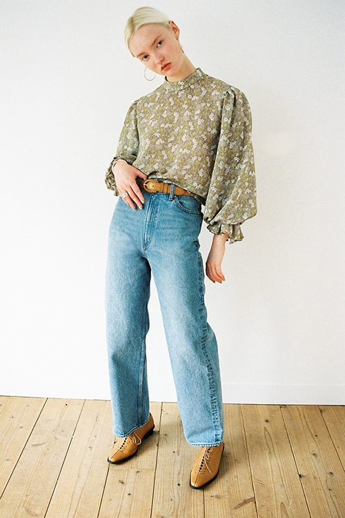 SECOND WIDE DENIM PANTS