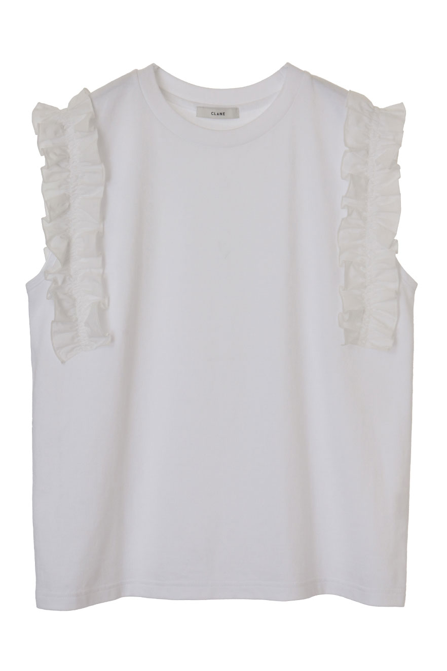 FRILL SLEEVE T-SHIRTS