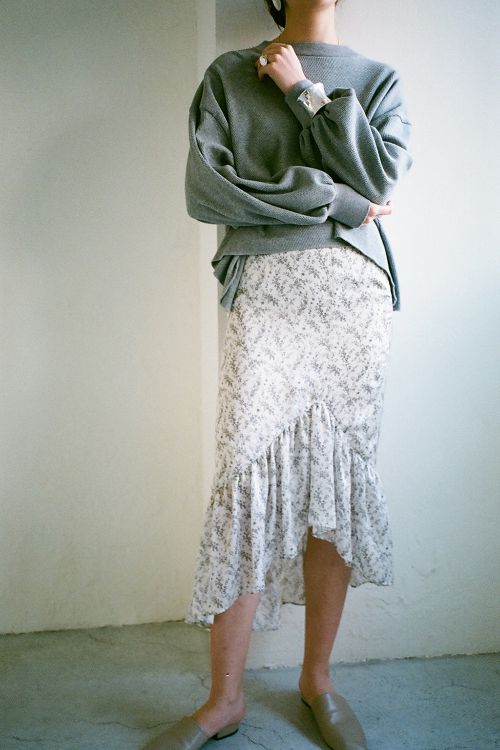 PETIT FLOWER FRILL SKIRT