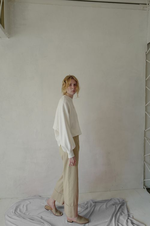H/W ROLL UP WIDE PANTS