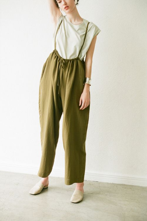LOOSE SUSPENDER PANTS