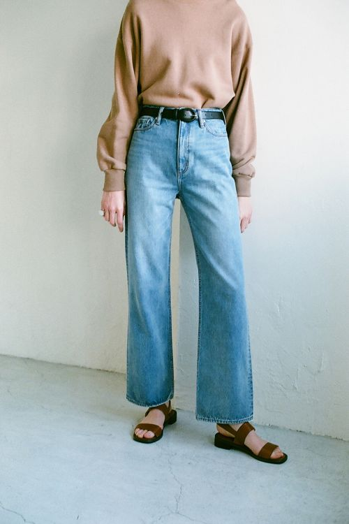 SECOND WIDE DENIM P/T