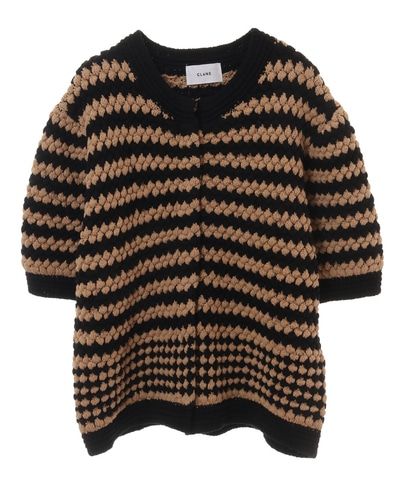 UNEVEN DOT HALF SLEEVE KNIT