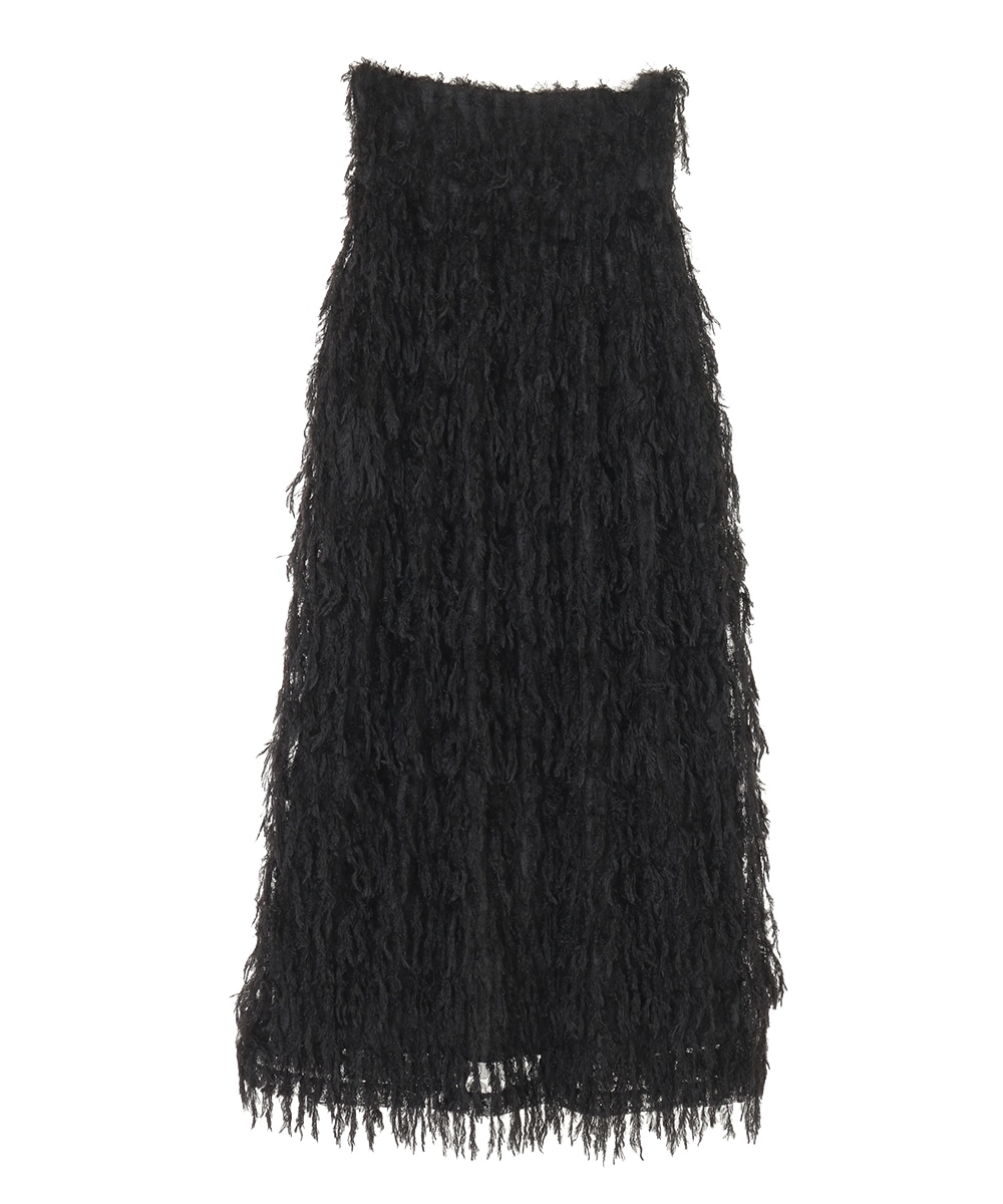 FRINGE LACE H/W SKIRT