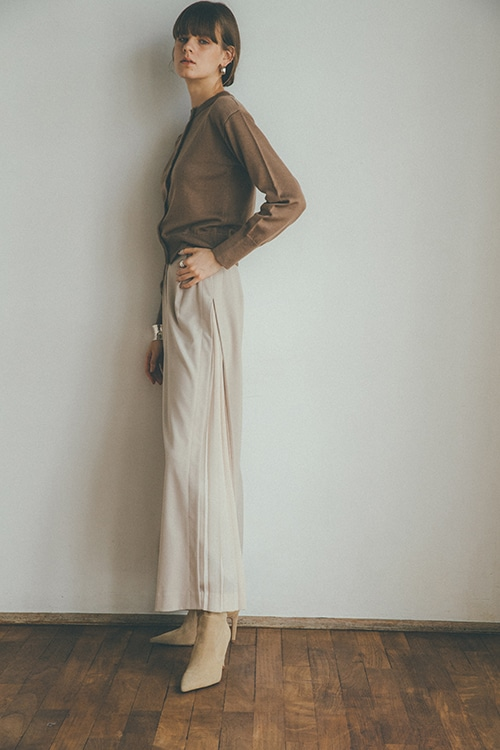 SIDE PLEAT WIDE PANTS