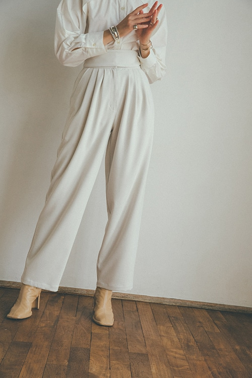 STACK BELT WIDE PANTS