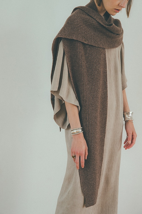 2WAY KNIT SLEEVE MUFFLER