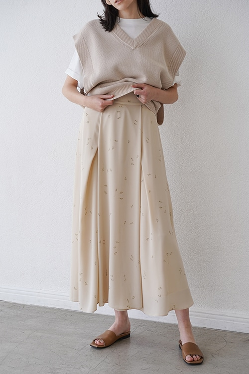 SPRINKLE FLOWER LONG SKIRT