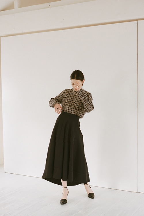 DOUBLE CLOTH VOLUME SKIRT