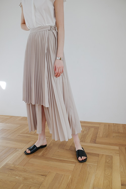 3WAY LAYER PLEAT SKIRT