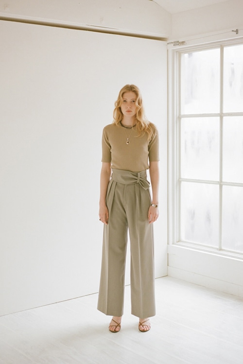 WIDE BELT PANTS