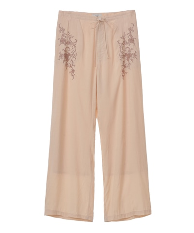 CLASSIC EMBROIDERY RELAX PANTS