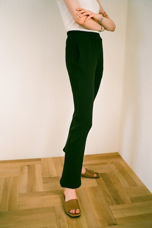 SIDE SLIT RIB PANTS