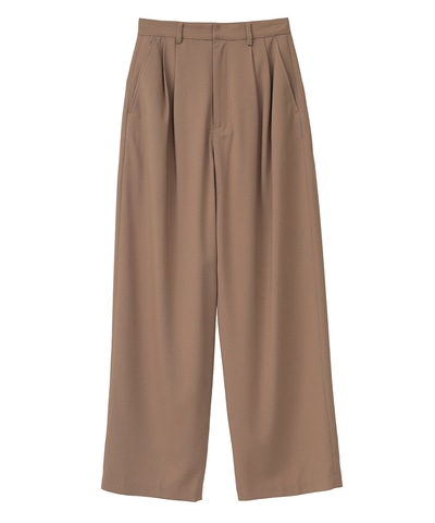 BASIC TUCK PANTS